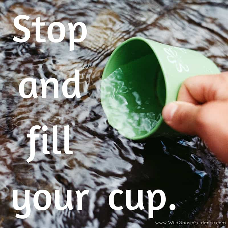 Stop and fill your cup.